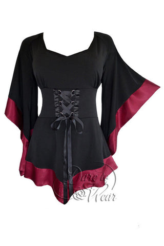 Dare To Wear Victorian Gothic Women's Treasure Corset Top in Burgundy