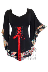 Dare To Wear Victorian Gothic Women's Treasure Corset Top in JapaneseRed