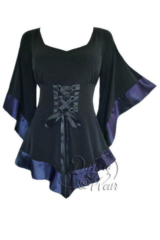 Dare To Wear Victorian Gothic Women's Treasure Corset Top in Midnight