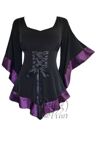 Dare To Wear Victorian Gothic Women's Treasure Corset Top in Plum