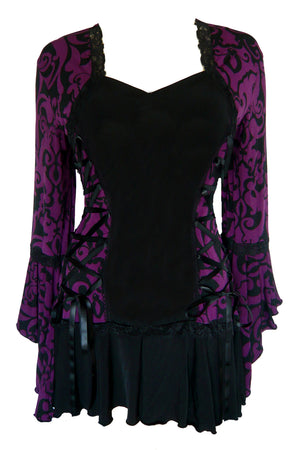 Dare Fashion Bolero Top FC29BlackberryBrocade