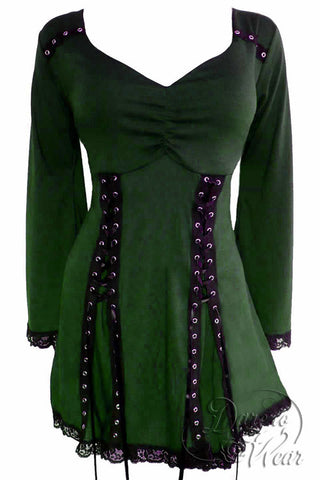 Dare To Wear Gothic Victorian Women's Electra Corset Top Envy