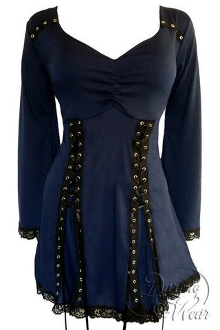 Dare To Wear Gothic Victorian Women's Electra Corset Top Midnight