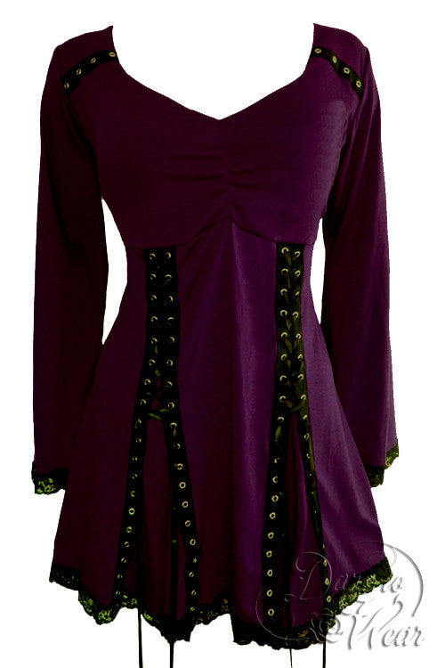 Dare To Wear Gothic Victorian Women's Electra Corset Top Mulberry