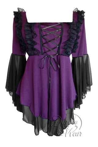 Dare To Wear Victorian Gothic Women's Fairy Tale Corset Top Plum