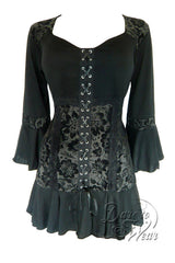 Dare To Wear Victorian Gothic Women's Cabaret Corset Top Black Dahlia