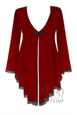 Dare To Wear Victorian Gothic Women's Plus Size Embrace Corset Sweater Ruby Rune