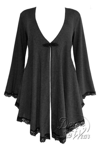 Dare To Wear Victorian Gothic Women's Plus Size Embrace Corset Sweater Shadow