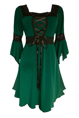 Halloween Witch Costume with  Renaissance dress and a Witch Hat