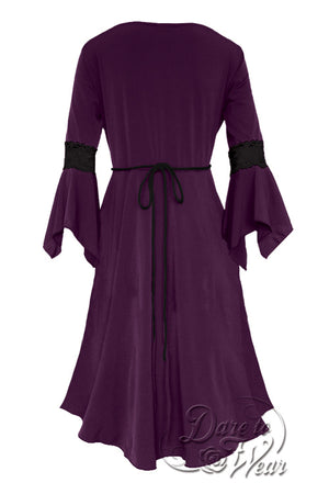 Renaissance Dress in Plum