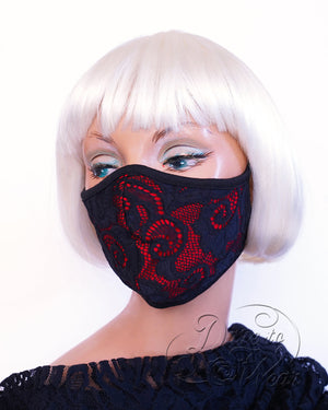 Dare Fashion Myriad Mask M01 Boudoir Victorian Gothic Cloth Face Cover