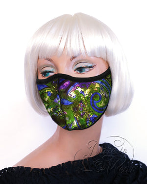 Dare Fashion Myriad Mask M01 Peacock Victorian Gothic Cloth Face Cover