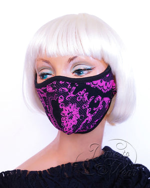 Dare Fashion Myriad Mask M01 PinkLace Victorian Gothic Cloth Face Cover