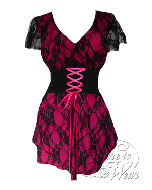 Dare Fashion Sweetheart Top S09 Fuchsia Victorian Gothic Corset Chemise