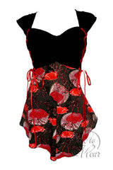 Dare To Wear Victorian Gothic Women's Cinch Corset Top Crimson Poppy