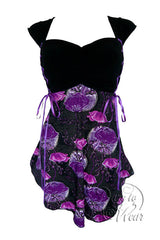Dare To Wear Victorian Gothic Women's Cinch Corset Top Violet Poppy