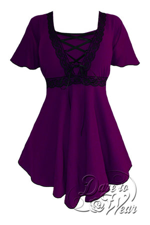 Angel Top in Plum/Black