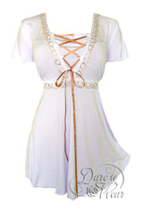 Dare To Wear Victorian Gothic Women's Plus Size Angel Corset Top White