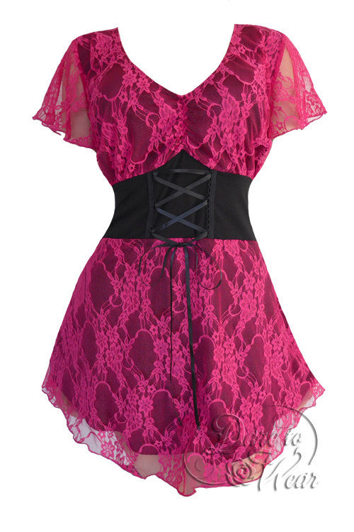 Dare To Wear Victorian Gothic Women's Plus Size Sweetheart Corset Top Orchid