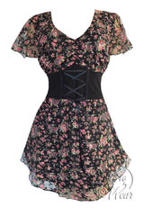 Dare To Wear Victorian Gothic Women's Plus Size Sweetheart Corset Top Primrose
