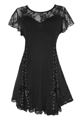 Dare to Wear Victorian Gothic Steampunk Roxanne Corset Top in Black