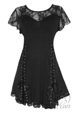 Dare To Wear Victorian Gothic Women's Roxanne Corset Top Black