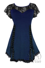 Dare To Wear Victorian Gothic Women's Roxanne Corset Top Midnight