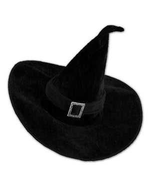 Witch Hat with Rhinestone Buckle