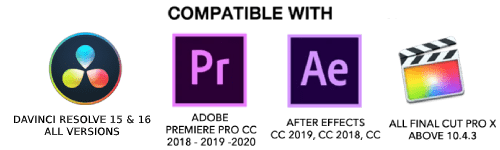 Compatible With Adobe Premiere Pro After Effects Final Cut Pro Davinci Resolve