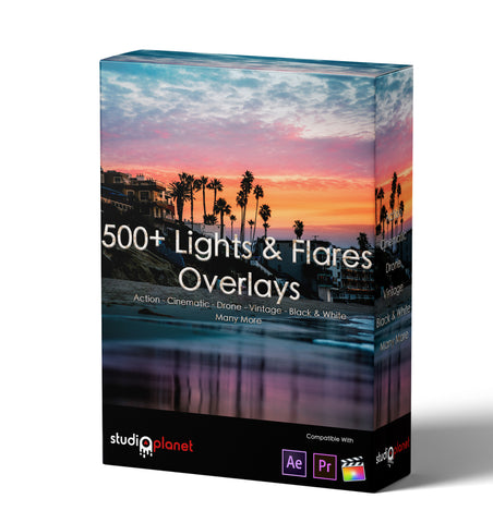 500+ Lights & Flares Overlays