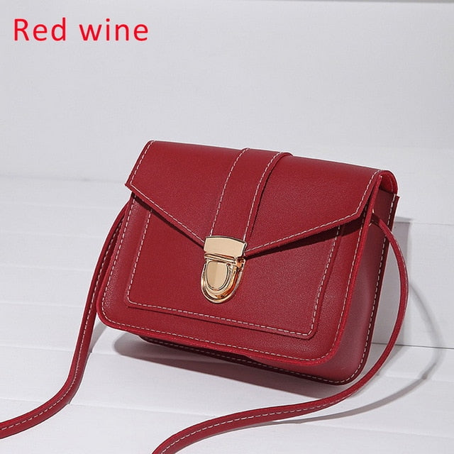 Women Fashion PU Leather Shoulder Small Flap Crossbody Handbags - JUWOW