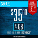 Mobile Plan Net 10 35$