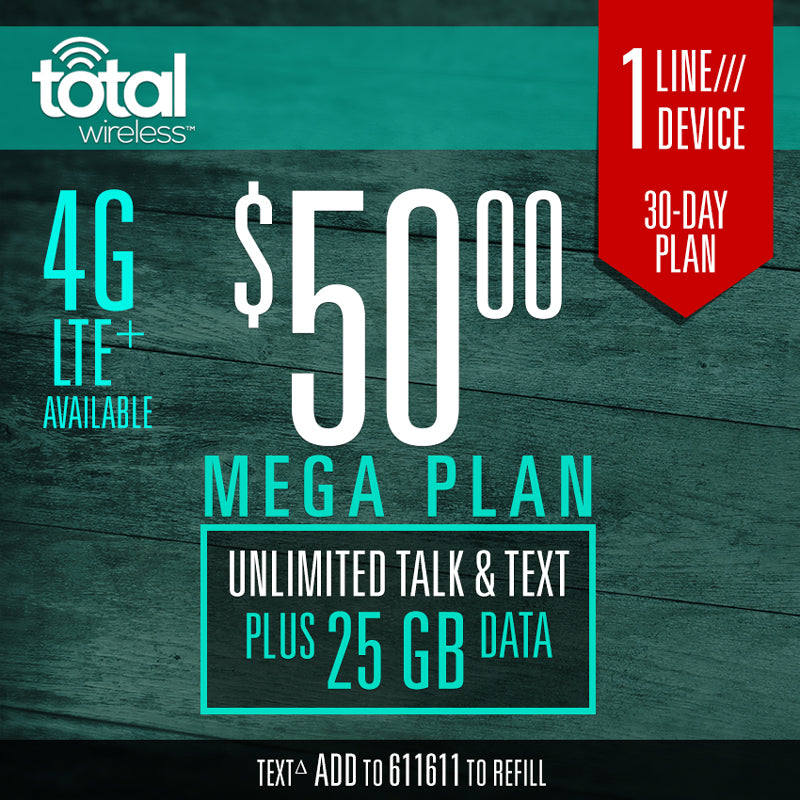 Mobile Plan Total Wireless 30-Day Plans