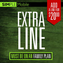 20$ Simple Mobile Add a Line - Family Plan