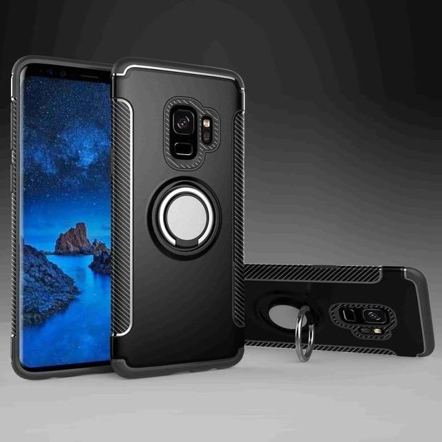 Armor Shell Case With Ring And Kickstand for S9P
