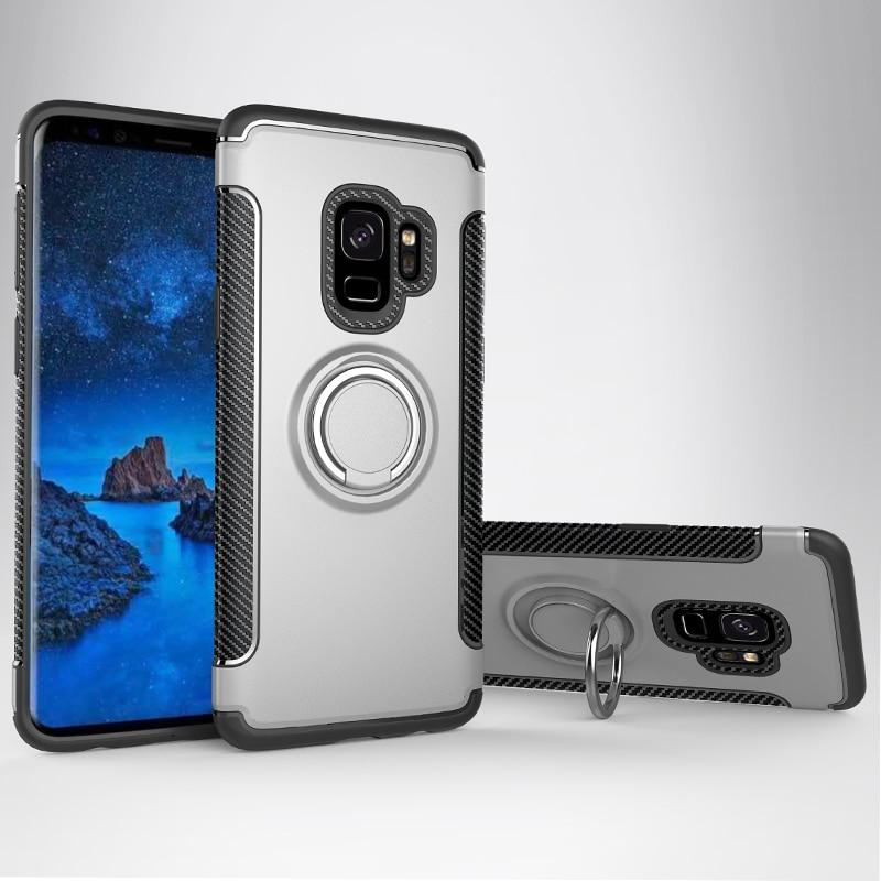 Armor Ring Galaxy S9 Plus Silver