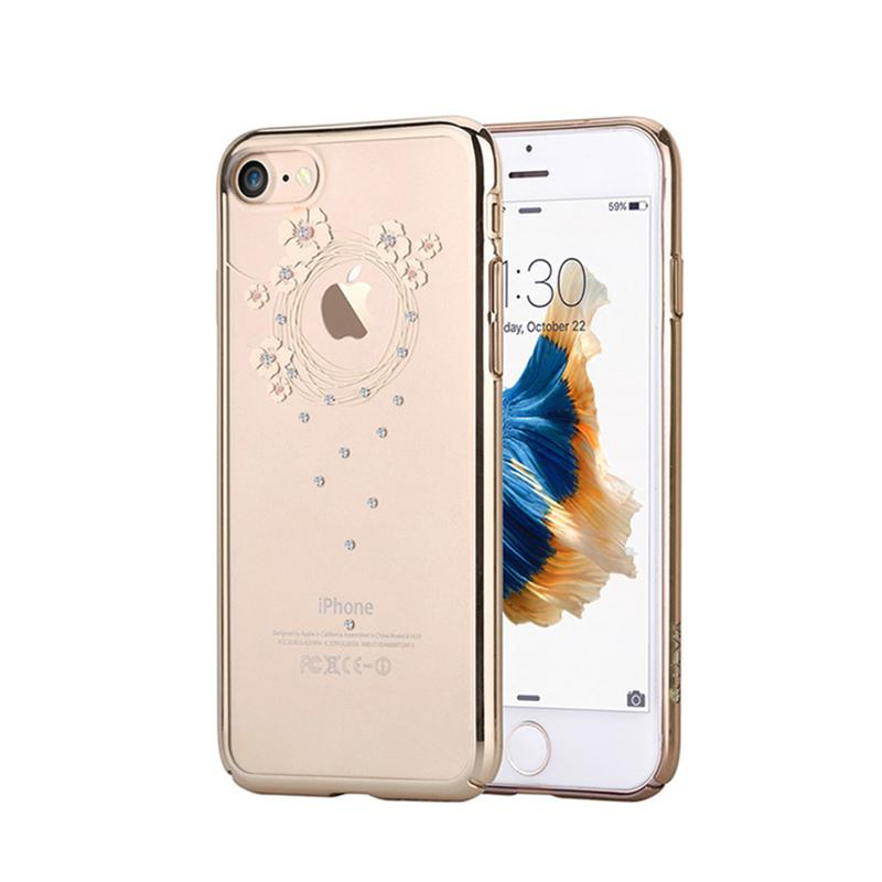 Crystal Garland for iPhone 7 Champagne Gold