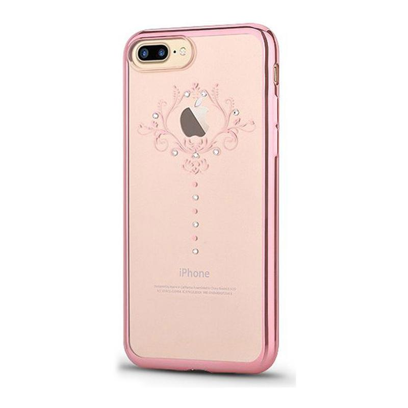 Crystal Iris soft case for iPhone 7Plus rose gold