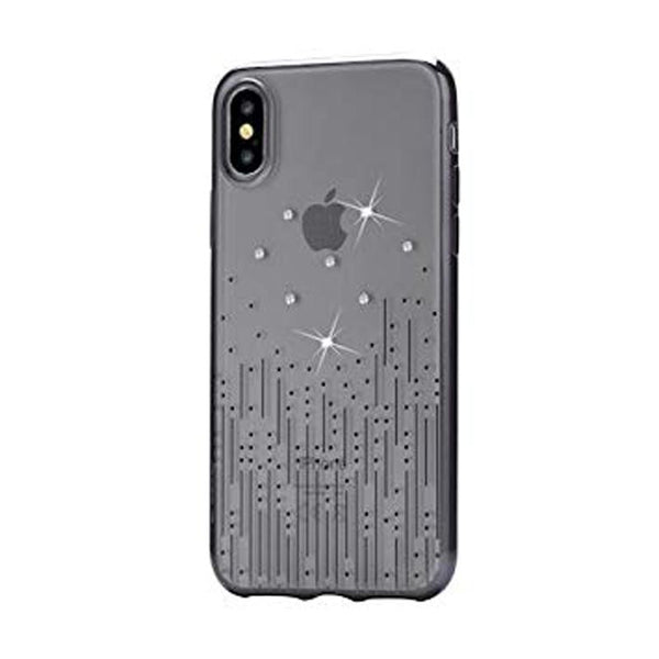Crystal Meteor soft case for for iPhone X Black