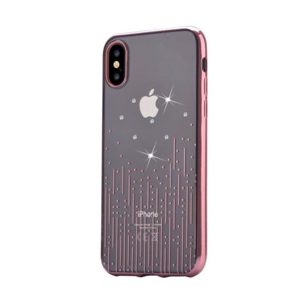 Crystal Meteor soft case for for iPhone X Rose gold