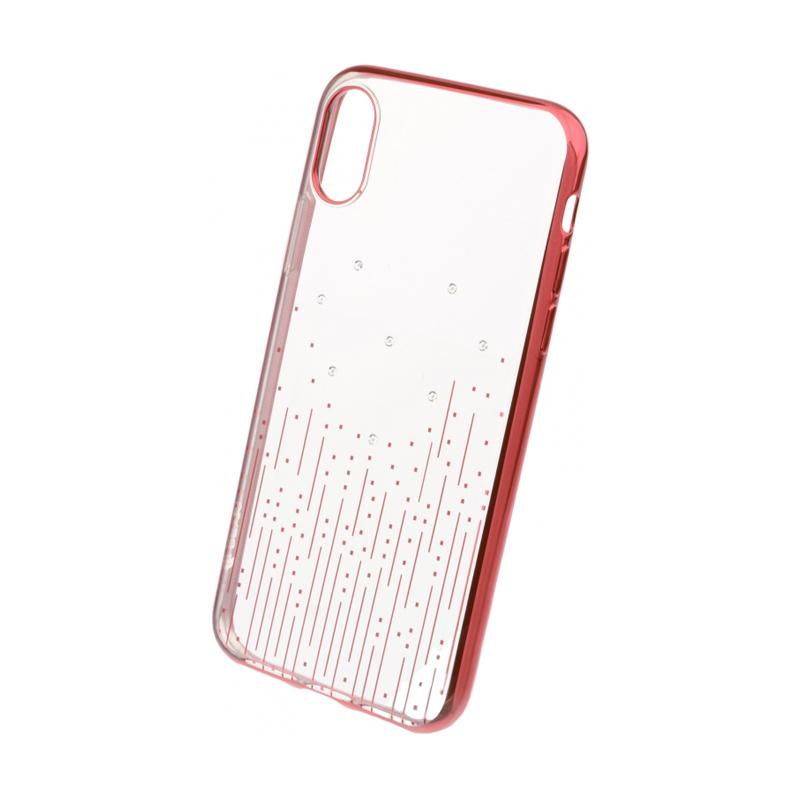 Crystal Meteor soft case for for iPhone X red