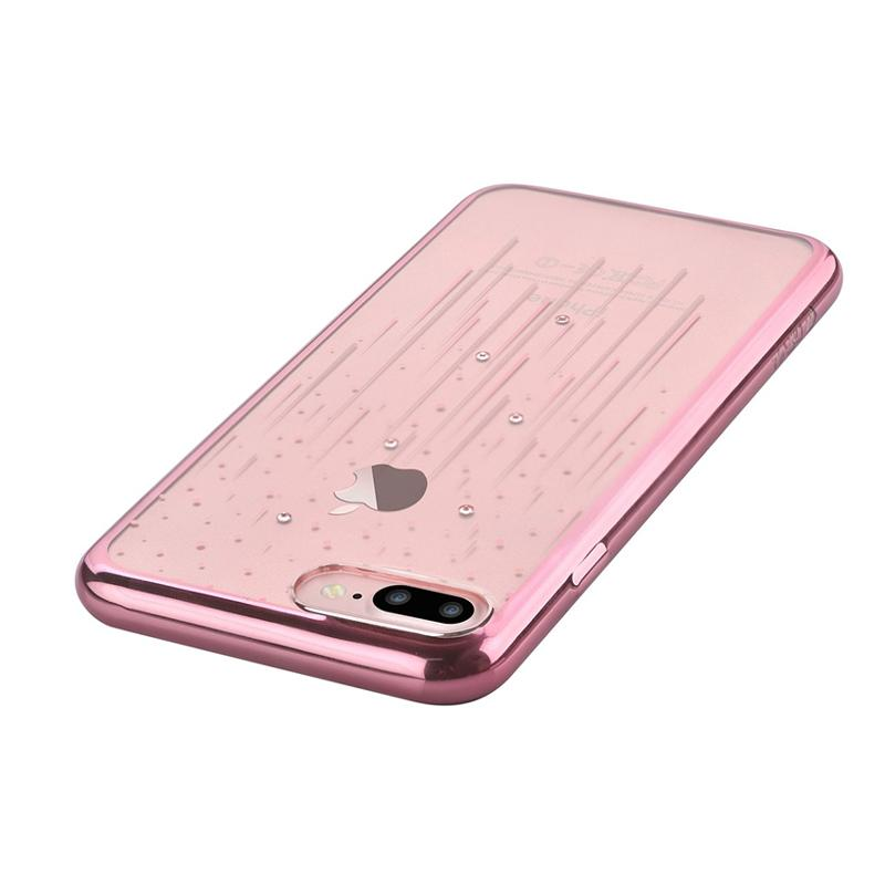 Crystal Meteor soft case for iPhone 7Plus rose gold