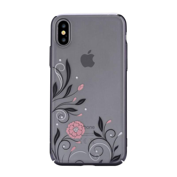 Crystal Petunia case for iPhone X Black