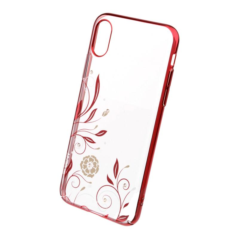 Crystal Petunia case for iPhone X Red