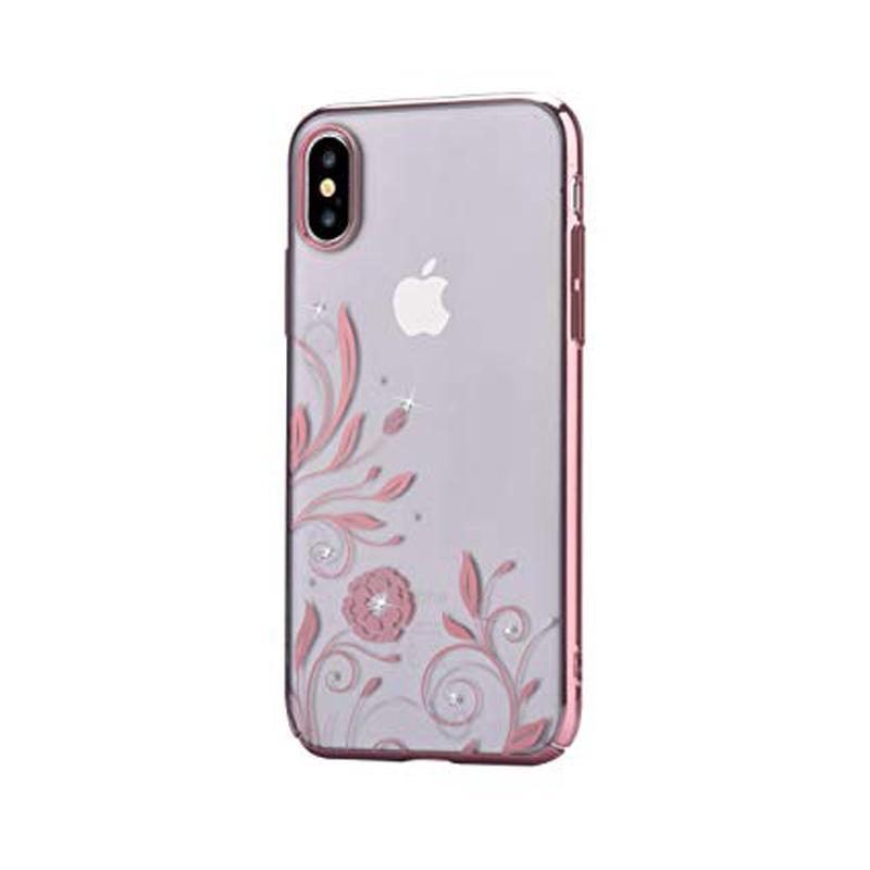Crystal Petunia case for iPhone X Rose Gold