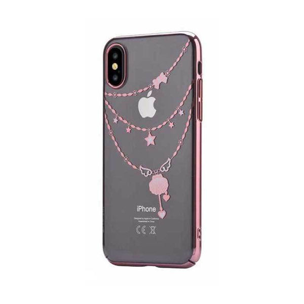 Crystal Shell Case for iPhone X Rose Gold