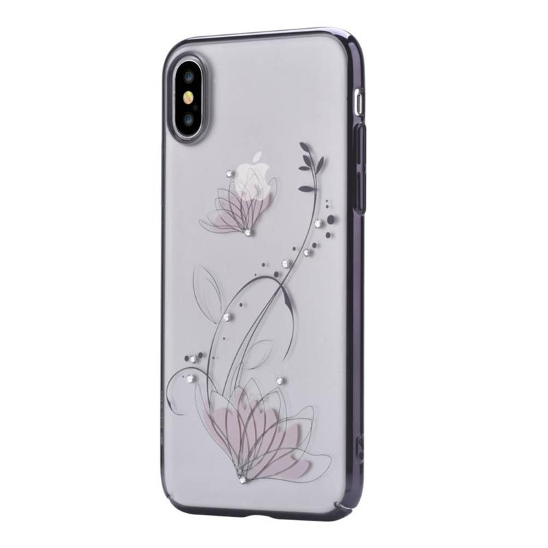 Crystal lotus case for iPhone X Black