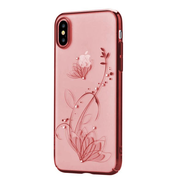 Crystal lotus case for iPhone X Red