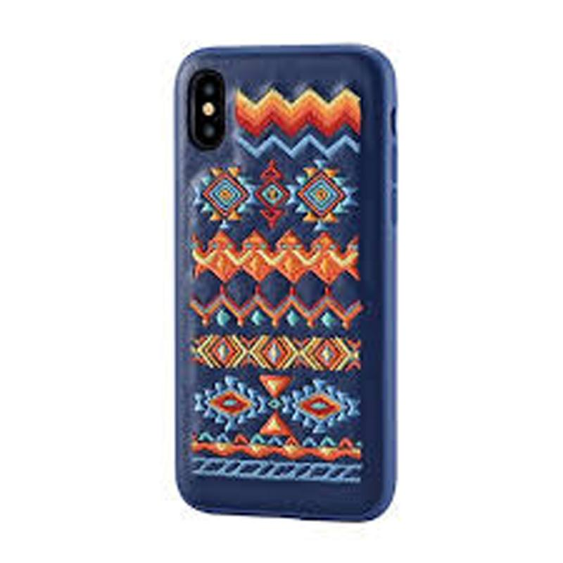 Flower Embroidery Case for iPhone X Bohemian