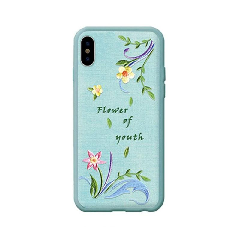 Flower Embroidery Case for iPhone X lanzh